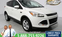 Recent Arrival! New Price! LOW, LOW MILEAGE! Completely inspected and reconditioned, 2014 Ford Escape, White, SE. Odometer is 13261 miles below market average! 30/22 Highway/City MPGWe'll have you say