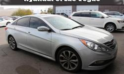 Sonata SE, Hyundai Certified, 4D Sedan, and Gray w/Leather Bolster/Cloth Insert Seating Surfaces. Yes! Yes! Yes! GPS Nav! Stop clicking the mouse because this 2014 Hyundai Sonata is the car you've bee