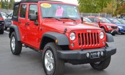 Sensibility and practicality define the 2014 Jeep Wrangler Unlimited! Comprehensive style mixed with all around versatility makes it an outstanding midsize SUV! Jeep infused the interior with top shel