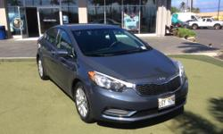 This 2014 Kia Forte LX is offered to you for sale by Mercedes-Benz Of Maui. CARFAX BuyBack Guarantee is reassurance that any major issues with this vehicle will show on CARFAX report. When it comes to
