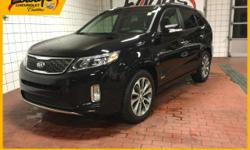 This outstanding example of a 2014 Kia Sorento SX is offered by Eddy's Cadillac Chevrolet BMW. The Kia Sorento SX offers a fair amount of utility thanks to its advanced features and unique stylin