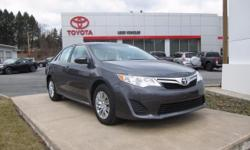 ONE OWNER!! 2014 CAMRY LE!! TOYOTA CERTIFIED 7 YEARS/100,000 MILES, 2.5L, TOUCH SCREEN DISPLAY AUDIO, BLUETOOTH, USB, TILT STEERING WITH AUDIO CONTROLS, Steel wheels, KEYLESS ENTRY, POWER DOOR MIRRORS