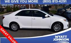 Be the talk of the town when you roll down the street in this charming-looking 2014 Toyota Camry. Toyota has the best-retained value of any full-line car manufacturer on the road today. This fantastic