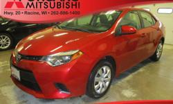 Options:  2014 Toyota Corolla Le|Red|Ash W/Fabric Seat Trim|A Whole New Experience In Car Buying This Is The Vehicle For You If You're Looking To Get Great Gas Mileage On Your Way To Work!!! Zoom Zoom