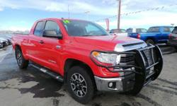 SR5 trim, RADIANT RED exterior and GRAPHITE interior. Satellite Radio, Flex Fuel, Back-Up Camera, CD Player, Bluetooth, iPod/MP3 Input, 4x4, SR5 PACKAGE, TRD OFF ROAD PACKAGE, SR5 UPGRADE PACKAGE, Hit