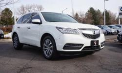 Parchment w/Leather-Trimmed Interior. AWD! GPS Nav! Previous owner purchased it brand new! Want to save some money? Get the NEW look for the used price on this one owner vehicle. This wonderful Acura