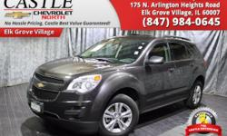 CASTLE CHEVY NORTH**ELK GROVE VILLAGE ILLINOIS**LIKE NEW**A MUST SEE**2015 CHEVY EQUINOX 1LT**4DR FWD 2.4L 4CYL**AUTOMATIC**LOW MILES, ONLY 19286**1-OWNER CLEAN CARFAX**AM/FM/CD/MP3**CLOTH SEATS**REMO