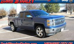 Silverado 1500 LT, 4D Double Cab, EcoTec3 5.3L V8, Automatic, RWD, and Cloth. David Stanley Chrysler Jeep Dodge means business! Hurry in! Thank you for taking the time to look at this trusty 2015 Chev