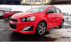 Options:  2015 Chevrolet Sonic Rs Manual|Rs Manual 4Dr Hatchback|**Local Trade-In**|**Moonroof**|**Upgraded Wheels**|**Remainder Of Factory Warranty Still Applies!**|And **Heated Leather Seats**. Turb