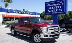Options:  2015 Ford F-250Sd Lariat|Red|4Wd. Diesel! Red And Ready! There Are Used Trucks|And Then There Are Trucks Like This Well-Taken Care Of 2015 Ford F-250Sd.  This Luxury Vehicle Has It All|From