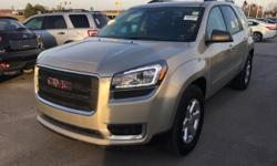 Clean CarFax, One Owner CarFax, Backup Camera, Cruise Control, Steering Wheel Controls, Keyless Entry, USB / AUX Ports, Bluetooth, and MP3 Player. AWD and Dark Cashmere Cloth. 2015 GMC Acadia SLE-1 AWD.   When was the last time you smiled as you turned