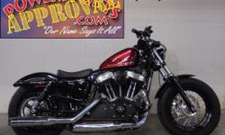 2015 Harley Davidson XL1200x Forty Eight for sale with only 290 miles. Sharp bike in Big Red Flake, Rough Craft Air intake, Laced wheels and more. This bike turns heads and only has 290 miles! It's no