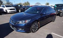2015 Honda Accord Accord Hybrid, 2.0L 4-Cylinder i-VTEC, Gray w/Cloth Seat Trim.CARFAX One-Owner. Clean CARFAX. 45/50 Highway/City MPGAwards:* KBB.com 15 Best Family Cars* KBB.com Best Buy Awards* KBB