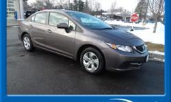 BLUETOOTH HANDSFREE, ONE OWNER, LOCAL TRADE, and USB PORTS. Civic LX, Honda Certified, 4D Sedan, CVT, and Exterior Parking Camera Rear. Be the talk of the town when you roll down the street in this lo