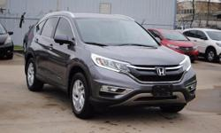 Certified. CARFAX One-Owner. Clean CARFAX. ONE OWNER, CLEAN CARFAX, HONDA CERTIFIED, BACK-UP CAMERA, BLUETOOTH, CR-V EX-L, 4D Sport Utility, Leather, Alloy wheels, Front fog lights, Navigation System,