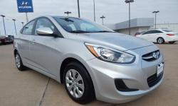 Automax Hyundai Del City is pleased to offer this handsome 2015 Hyundai Accent, **HYUNDAI CERTIFIED**, **ACCIDENT FREE CARFAX**, and **CARFAX ONE OWNER**. Put down the mouse because this 2015 Hyundai