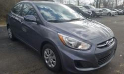 *PLEASE CALL OR TEX* New Arrival**, ABS brakes, Electronic Stability Control, Panic alarm, Radio: AM/FM/SiriusXM/CD/MP3 Audio System, Speed-sensing steering, Traction control, Wheels: 14 x 5.0J Steel w/Cover.2015 Hyundai Accent GLS FWD 1.6L I4 DGI DOHC