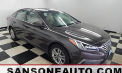 *HYUNDAI CERTIFIED*, *ONE OWNER*, *CLEAN CAR FAX*, *LEATHER SEATS*, *FRESH DETAIL*, *NON SMOKER*, *CELEBRATING OVER 50 YEARS IN BUSINESS*, and *BACKUP CAMERA*.  This 2015 Sonata is for Hyundai nuts lo