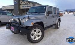 Options:  2015 Jeep Wrangler Unlimited Sahara|Silver|*One Owner* And *Local Trade*. 3.6L V6 24V Vvt. 4X4!  Want To Save Some Money| Get The New Look For The Used Price On This One Owner Vehicle.  Clim