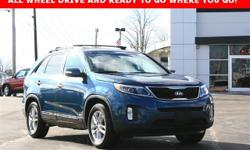 Sorento Kia 2015 6-Speed Automatic with Sportmatic AWD 2.4L I4 DGI DOHC Dual CVVT  Recent Arrival!     Extended Warranty Available**, OIL AND FILTER CHANGED!?**, PASSED OUR 50 POINT INSPECTION**, Sore