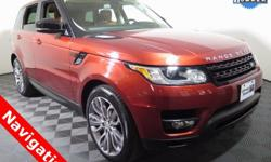 2015 Land Rover Range Rover Sport 4X4 with a 5.0L V8 Super Charged Engine. Leather Interior, Back-Up Camera, Navigation, Dual Panel Moonroof, and Only One Owner. This Land Rover has passed Ford Motor