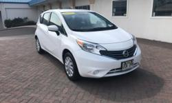 This 2015 Nissan Versa Note SR is proudly offered by Big Island Honda - Kona This vehicle was engineered to be both economically and environmentally friendly with exceptional fuel efficiency.  Based o