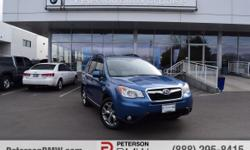 Blending versatility, utility and ultimate comfort, our Carfax One Owner 2015 Subaru Forester 2.5i Touring AWD in Quartz Blue Pearl is a fantastic solution to your transportation needs. Our Forester c