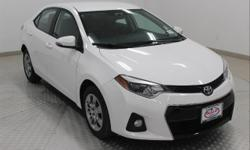 Options:  2015 Toyota Corolla S Super White Black W/Sport Fabric Seat Trim Before You Come In Call Or Text Tim Herbert At  To Confirm Availability Details And Internet Pricing. One Owner Accident Free Carfax Gives You The Peace Of Mind To Buy With