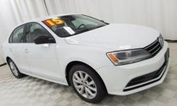 2015 Volkswagen Jetta 1.8T SE Pure White Priced below KBB Fair Purchase Price! CARFAX One-Owner. Clean CARFAX. 37/25 Highway/City MPG  Every pre-owned vehicle comes with an autobiography which include