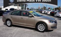 Your satisfaction is our business! Call us now! Family appeal with a sporty feel ! Are you looking for an used vehicle that is in incredible condition? Well, with this superb 2015 Volkswagen Passat, you are going to get it.. You could be the second owner