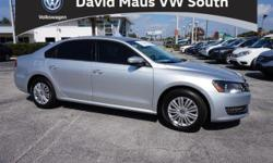 Turbocharged! Silver Bullet! Family appeal with a sporty feel ! This outstanding-looking 2015 Volkswagen Passat is the rare family vehicle you are searching for. Load this car down with passengers, cargo, whatever! This car's cavernous trunk and