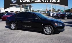 Turbocharged! March on down here! Family appeal with a sporty feel ! David Maus Volkswagen is very proud to offer this beautiful 2015 Volkswagen Passat to stimulate your senses. Load it down with passengers, cargo, whatever! Its cavernous trunk and