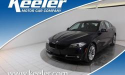 Certified. CARFAX One-Owner. 2016 BMW 5 Series **NAVIGATION, Keeler Rewards Program, Cold Weather Package, Comfort Access Keyless Entry, Heated Front Seats, Heated Rear Seats, Heated Steering Wheel, P
