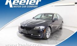 Certified. CARFAX One-Owner. 2016 BMW 5 Series ***BLUE TOOTH, **NAVIGATION, Keeler Rewards Program, Cold Weather Package, Comfort Access Keyless Entry, Heated Front Seats, Heated Rear Seats, Heated St