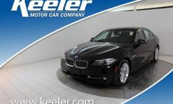 Certified. CARFAX One-Owner. 2016 BMW 5 Series **NAVIGATION, Keeler Rewards Program, Cold Weather Package, Comfort Access Keyless Entry, Driver Assistance Package, Head-Up Display, Heated Front Seats,