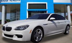 Chuck Fairbanks Chevrolet is pleased to be currently offering this 2016 BMW 6 Series 640i with 10,450 miles. When you purchase a vehicle with the CARFAX Buyback Guarantee, you're getting what you paid