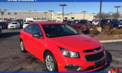 Red and Ready! Stick shift! Don't pay too much for the family car you want...Come on down and take a look at this stunning-looking 2016 Chevrolet Cruze Limited. There aren't any used vehicles more rel