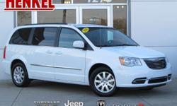 Options:  2016 Chrysler Town & Country Touring|Bright White Clearcoat|Beige Leather|3.6L V6 Beige Leather Touchscreen Navigation Backup Camera Power Sliding Doors Power Lift Gate Rear Dvd Uconnect Blu