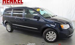 Options:  2016 Chrysler Town & Country Touring|True Blue Pearlcoat|Black Leather|3.6L V6 Black Leather Touchscreen Navigation Backup Camera Power Sliding Doors Power Lift Gate Rear Dvd Uconnect Blueto