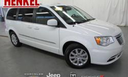 Options:  2016 Chrysler Town & Country Touring|Bright White Clearcoat|Beige Leather|3.6L V6 Beige Leather Touchscreen Navigation Backup Camera Power Sliding Doors Power Lift Gate Rear Dvd Player Uconn