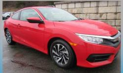 ======BLUETOOTH---- BACKUP CAMERA====                                        HONDA CERTIFIED WARRANTY This outstanding example of a 2016 Honda Civic Coupe LX is offered by Sussex Honda. This 2016 Hond