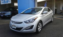 This outstanding example of a 2016 Hyundai Elantra SE is offered by Big Island Honda - Hilo. Save money at the pump with this fuel-sipping Hyundai Elantra. Marked by excellent quality and features wit