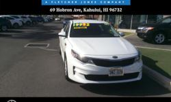 You can find this 2016 Kia Optima LX and many others like it at Mercedes-Benz Of Maui. This 2016 Kia Optima comes with a CARFAX Buyback Guarantee, which means you can buy with certainty. The 2016 Kia