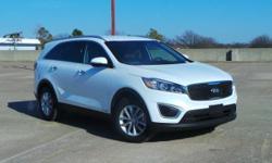 New Price! Recent Arrival! Odometer is 11083 miles below market average! Certified. CARFAX One-Owner. Clean CARFAX.  2016 Kia Sorento LX V6 THIRD ROW SEATING 3.3L DOHC Snow White Pearl AWD, **NEW PRIC