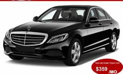 This Astounding Black 2016 Mercedes-Benz C300 4Matic Sedan Comes Equipped With An MP3Player, 4Matic All Wheel Drive, Navigation, Panoramic Roof, Rear View Camera, iPhone Connection, Satellite Ra