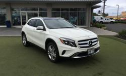 This outstanding example of a 2016 Mercedes-Benz GLA GLA250 is offered by Mercedes-Benz Of Maui. This SUV is a great example of beauty and brawn with classic styling and a workhorse power plant. You c