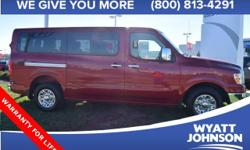 This vehicle qualifies for Warranty For Life at no extra charge!! A powertrain warranty good for as long as you own it! If you demand the best things in life, this outstanding 2016 Nissan NV Passenger