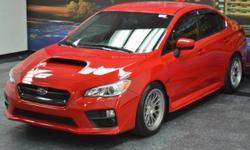**One Owner, Clean CARFAX, Still Under Factory Warranty, Custom Wheels, 6-Speed Manual!!**. 4D Sedan, 2.0L DOHC Intercooled Turbocharged, 6-Speed Manual, AWD, Pure Red, Black Cloth, Alloy wheels, Radi
