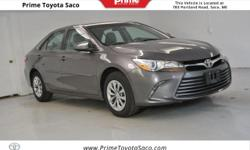 Toyota Certified! Carfax One Owner! 2016 Toyota Camry LE in Predawn Gray Mica!! With these sought after options MP3- USB / I-Pod Ready, Hands Free Calling, Back Up Camera, Power Seats, Power Locks, Po