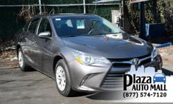 Just Reduced! Recent Arrival! Certified. 2016 Toyota Camry LE Predawn Gray Mica CARFAX One-Owner. *Toyota Certified*, *One Owner*, *90 Day / 3000 Mile Limited Comprehensive Plaza Warranty*, *BLUETOOTH